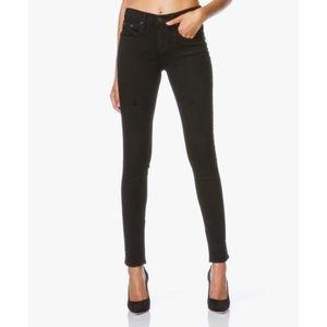 Rag & Bone High Rise Skinny Jeans [26] coal